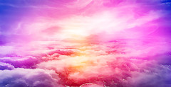 I Dream of Clouds (chiaralily) Tags: chiaralily digital art painting clouds sunset pink purple dreamy melbourne australia sky colourful fairy floss
