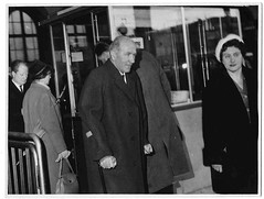 "Matt Busby finally leaves Hospital in Munich on his way ""Home"" to Manchester (Leslie Millman-Manchesterunitedman1) Tags: mattbusby munich germany"