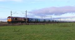 DB Cargo (EWS) 66093 Drax Biomass 15th December 2019 (2) (asdofdsa) Tags: railway fenwick doncaster southyorkshire trains fields sky levelcrossing drax biomass 66093 transport passengers