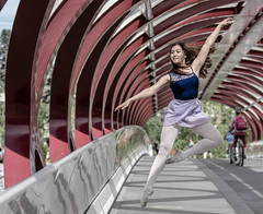 Dance like no one is watching (Diggerthedog99) Tags: ballerina canada canon action people athletic summer jump bridge dance