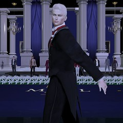 MR SL ♛ Russia 2020 - Formal Outfit Challenge - 12/14/19 (Darien FaNg) Tags: formalwear tuxedo boutinniere rose vest tails satin mrsl2020 msslorganization model models modeling runway catwalk competition pageant