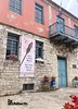Main Entrance of Afitos Cultural Museum. Banner design by 2p architects
