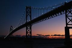 Bridge at the Blue Hour (Read2me) Tags: pree cye tcfe lights bridge twilight blue orange black