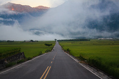 伯朗大道 Brown's Road (Chiung Hui) Tags: 台灣 台東 taiwan taitung road morning sunrise fog 伯朗大道 brown'sroad
