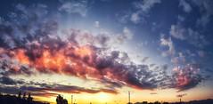 #sky #clouds #blue #nubes #cielo #atardecer #montaña #hd #cima #naranjo (matiiilda) Tags: sky clouds blue nubes cielo atardecer montaña hd cima naranjo