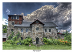 Castle In The Wilderness of New Hampshire (Pearce Levrais Photography) Tags: castle architecture plant bush shrub shrubbery flower garden yard sky cloud sony a7r3 hdr landscape ilce7rm3 outdoor outside