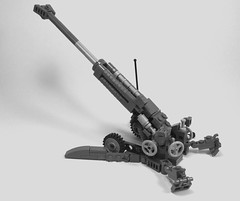 M777 Howitzer (1) (Lonnie.96) Tags: lego brick model scale grey light dark bley towed howitzer cannon artillery bae system m777 3 inspired usa united states america army usmc marine corp 2009 december 2005 current australia canada india