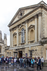 Roman Baths Entrance, Bath, England (Billy Wilson Photography) Tags: 2019 adventure biketour cycling europe bike tour store fronts somerset somersetshire uk united kingdom england british britain architecture historic bath city unesco world heritage site stone victorian