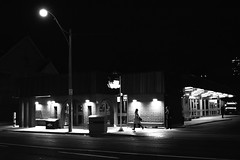 Hurry (A Great Capture) Tags: run space watching jog black white blackandwhite bw monochrome dark mood moody ttc agreatcapture agc wwwagreatcapturecom adjm ash2276 ashleylduffus ald mobilejay jamesmitchell toronto on ontario canada canadian photographer northamerica torontoexplore winter l'hiver