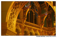 Gilded Arches (Kurokami) Tags: budapest hungary hungarian parliament building government royalty king kings crown coronation regalia scepter sword common people gold golden statue statues model models gargoyle gargoyles europe 2019 travel history roots vacation pilgrimage memorial