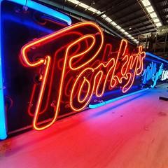 Restoration neon. We are restoring the infamous Porkys Neon Sign of Kings Cross. #restoration #vintage #renovation #interiordesign #design #waterdamage #conservation #architecture #s #painting #antique #furniture #diy #art #homeimprovement #antiquariato # (neolite1) Tags: instagram ifttt