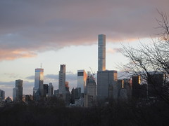 Pencil Tower looking South NYC 2684 (Brechtbug) Tags: 2019 columbus circle view 111 west 57th street pencil tower looking south nyc construction building architecture december 12082019 winter apartment buildings skyline cityscape new york city scape sloping exterior