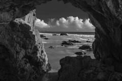 El Matador Beach (topendsteve) Tags: beach elmatador cave bw clouds water sand rocks