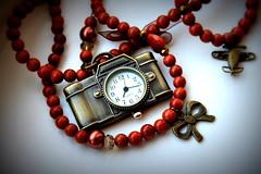 Especially For Me (JULIANA LEFTEROVA) Tags: macromondays handmade necklace clock macro birthdaypresent token stilllife