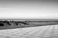 Horizon from the Digue des Alliés (hervedulongcourty) Tags: horizon france sand ciel leicam10p sable m10p sea dunkerque digue malolesbains nb mer photo leicam manualfocus plage leica sky summiluxm50mmf14asph photography summilux walkway blackandwhite seascape bw europe seaside walk ngc