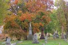Greenwood Cemetery Autumn (jcsullivan24) Tags: bellaire oh ohio autumn greenwoodcemetery