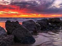 IMG_6395 (Dan_lazar) Tags: sunset israel telaviv netanya beach sky clouds עננים שקיעה השתקפויות ים חוף נתניה תלאביב ישראל reflections