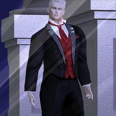 MR SL ♛ Russia 2020 - Formal Outfit Challenge - 12/14/19 (Darien FaNg) Tags: formalwear tuxedo tails vest rose boutonniere mrsl2020 msslorganization models model modeling runway competition catwalk pageant