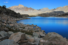 (photography by Derek G) Tags: shade shadow light blue lake water rock rocks wilderness landscape highsierra hiking camping backpacking wildernesswandering mountain mountains color dark