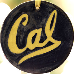 Cal (lenswrangler) Tags: lenswrangler digikam macro macromondays handmade ornament cal berkeley ucberkeley university blue gold ceramic