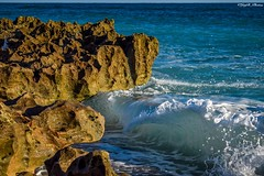 Crashin' on the Rocks (JayB Photos) Tags: winter crisp warm morning sunny hobesoundfl rockformations wavescrashing waves atlanticocean ocean jupiterfl rocks