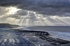 Airwaves (pauldunn52) Tags: beach temple bay glamorgan heritage coast wales sunburst cloud