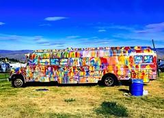 Dead & Co Bus, The Gorge, WA Chris Knudsen Photo (olydragon) Tags: deadco dead co grateful gorge george wa washington chris knudsen music concert rock n roll blue sky tie tiedyebus colorful