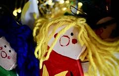 🎶 Gloria 🎶 (BusyBl.Mtns.Grandma) Tags: macromondays handmade angels wooden wool christmas