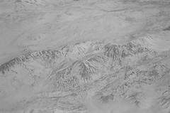 Zagros (isadora.jpg) Tags: nikon f50 35mm expired film svema foto64 свема фото64 aerial plane window black white bw zagros mountains snow kurdistan