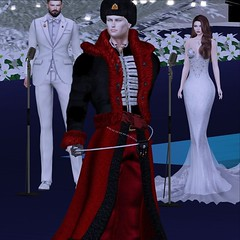 MR SL ♛ Russia 2020 - National Costume Challenge - 12/14/19 (Darien FaNg) Tags: russia insignia cossack fur sword ushanka mrsl2020 msslorganization runway pageant catwalk competition model modeling