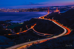 Rush Hour (Selectivebits) Tags: night goldengate sanfrancisco bluehour water