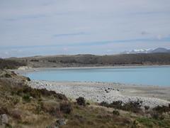 Aqua Lake (mikecogh) Tags: newzealand beauty beach hills clean aqua lakepukaki