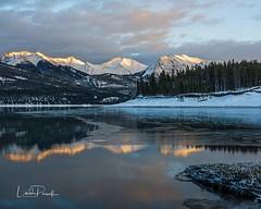 Abraham Lake, Canadian Rockies. (Linda JP) Tags: davidthompsonhighway alpenglow sunset rockies canadianrockies alberta canada abrahamlake