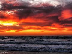 DD3BEEE5-3D1F-4449-A366-99FCC568B92D (Dan_lazar) Tags: sunset israel telaviv netanya beach sky clouds עננים שקיעה השתקפויות ים חוף נתניה תלאביב ישראל reflections