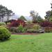 The fall perennial flower garden.