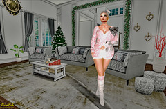 Animals... (Biatch Fenwitch) Tags: foxy blueberry jian kk milkmotion townies tlg whatnext cynful pilot laqdecor paparazzi tlallithefairaroundtheworldfrance leopard animal cute legs boots socks christmastree decorations clock monamourset couches pillows eiffeltower paris france amour winter home