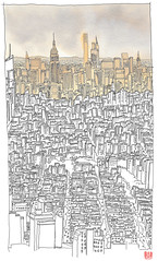 USA, New York (NYC), New York skyline (pirlouit72) Tags: unitedstates usa newyork newyorkcity ny nyc sketch drawing dessin croquis urbansketch urbansketcher urbansketchers carnetdevoyage skyline