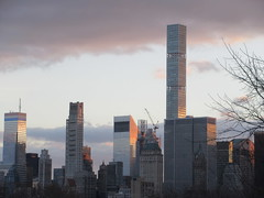 Pencil Tower looking South NYC 2687 (Brechtbug) Tags: 2019 columbus circle view 111 west 57th street pencil tower looking south nyc construction building architecture december 12082019 winter apartment buildings skyline cityscape new york city scape sloping exterior