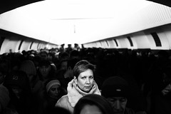 Rush hour (_storysofar_) Tags: streetphotography streetportrait portrait woman blackandwhite subway station rushhour crowd people monochrome moscow russia fujifilm