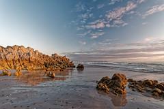 South African beaches (Tjaldur66) Tags: sea seashore coast ocean beach sand rocks clouds evening eveninglight goldenhour sunset reflection wilderness southafrica westerncape overberg hermanus voëlklip atlanticocean