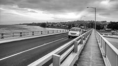 Arrival at San Remo (John Hewitt 7) Tags: luminosity7 phillipisland victoria australia nikond850 bridge engineering seascape sanremo earlymorningshot light bw monochrome