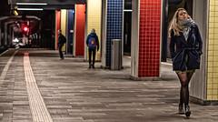 RedYellowAndYou (Peter M. Meijer) Tags: street woman holland color underground rotterdam strada blaak strasse callejera sonya7iii sony85mm18 nsblaak aperture18