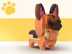Lego Doggo_German Shepherd (legotruman) Tags: lego legomoc legoideas legogram legomania legofan afol dog puppy dogs german shepherd legoart brickcentral animal toyphoto plush legophoto cute kawaii adorable aww husky shibe beagle