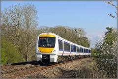 168106 (Jason 87030) Tags: chiltern claydon line dmu diesel multiple unit white blue blossom ts lineside 2012 sunny light transport