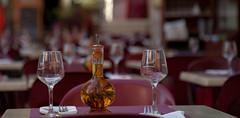 Waiting for guests (pe_ha45) Tags: gastronomie glas tisch table verre öl huile oil