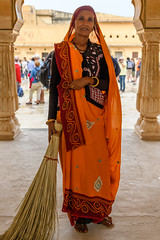 India - Amber palace - Woman - 1424 (Peter Goll thx for +14.000.000 views) Tags: indien 2019 rajasthan amer jaipur amberpalace amberpalast woman frau travel reise