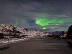 15.12.19 Danced around the cloudes (Dagnystef) Tags: northernlights iceland winter þingvellir night stars sky clouds ice