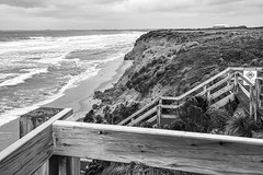 No Swimming (John Hewitt 7) Tags: luminosity7 nikond850 phillipisland victoria australia thecolonnades gale wildweather seascape warningsign bw monochrome