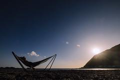 Beer ✔️ beach ✔️ hammock ✔️ 👍 (imajane) Tags: jm185288hammockonthebeach 2019 owhirobay wellington aotearoa newzealand sun sunset summer dec cloud pretty filter