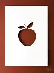 colpi di forbici ✂ (Antonio Iacobelli (Jacobson-2012)) Tags: silhouette apple red paper cardboard minimal bari fujifilm fujinon 120mm